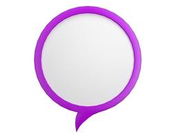 Speech Bubble V02 3D model
