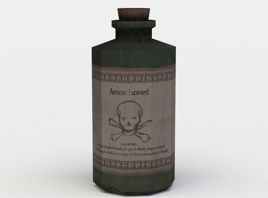 Green glass potion