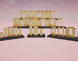 3D model WallPapersSet UE4