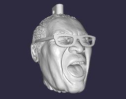 3D print model Robert Mugabe laughing head keychain
