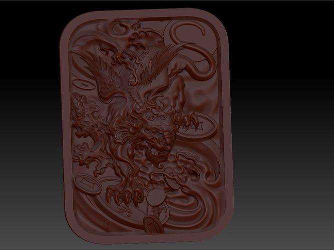 mythical wild animal  pixiu 3d model stl 1