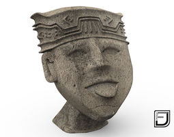 Happy Face From The Olmeca Culture 3D model
