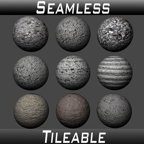 concrete textures pack 1 3d model  1