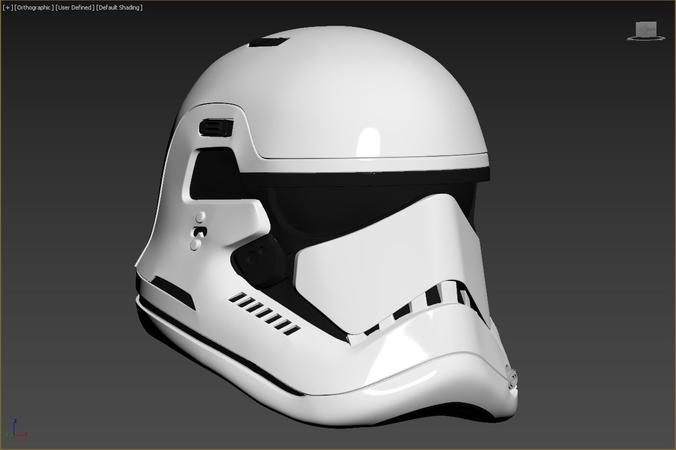 last jedi first order executioner stormtrooper trooper helmet 3d model stl 1