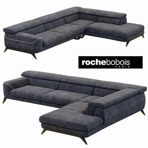 roche bobois cinephile corner composition 3d model max obj mtl 3ds fbx 1