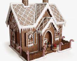 3D model powder Gingerbread house