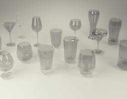 Glass Set - 15 Assets VR / AR ready