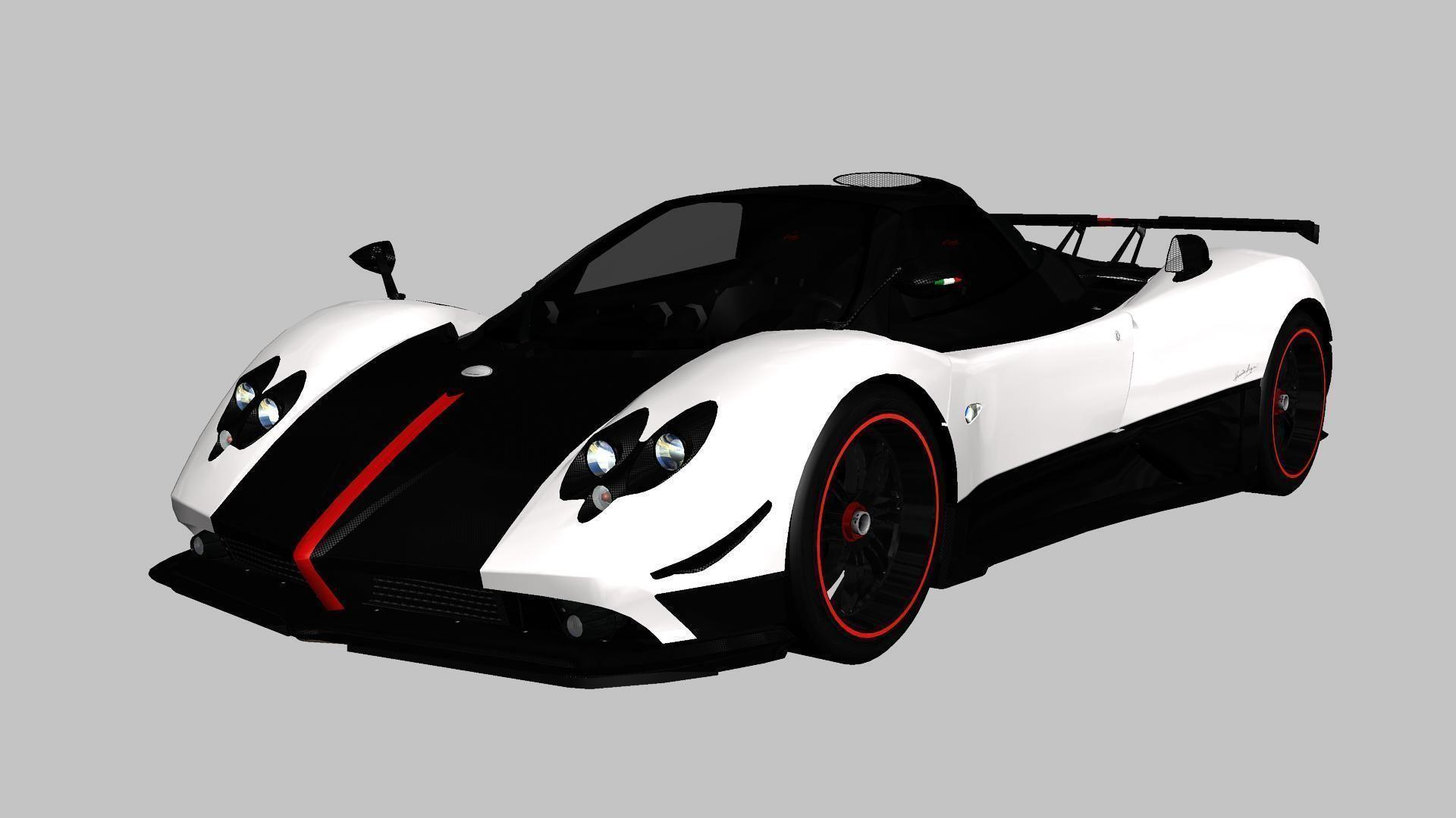 Pagani Zonda Cinque Roadster 2009 3D et | CGTrader