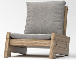 Outdoor Chair relaxation render ready vray 3D