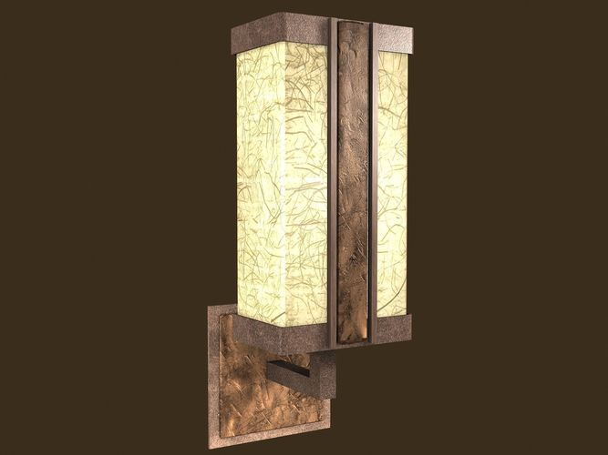 rustic sconce 3d model low-poly max obj mtl fbx tga 1