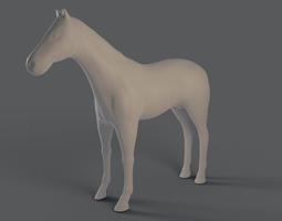 Horse basemesh and highpoly 3D asset