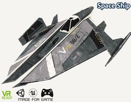 Sci-Fi Spaceship Fighter Low Poly 3D model