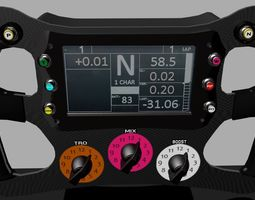 3D asset F1 Steering Wheel