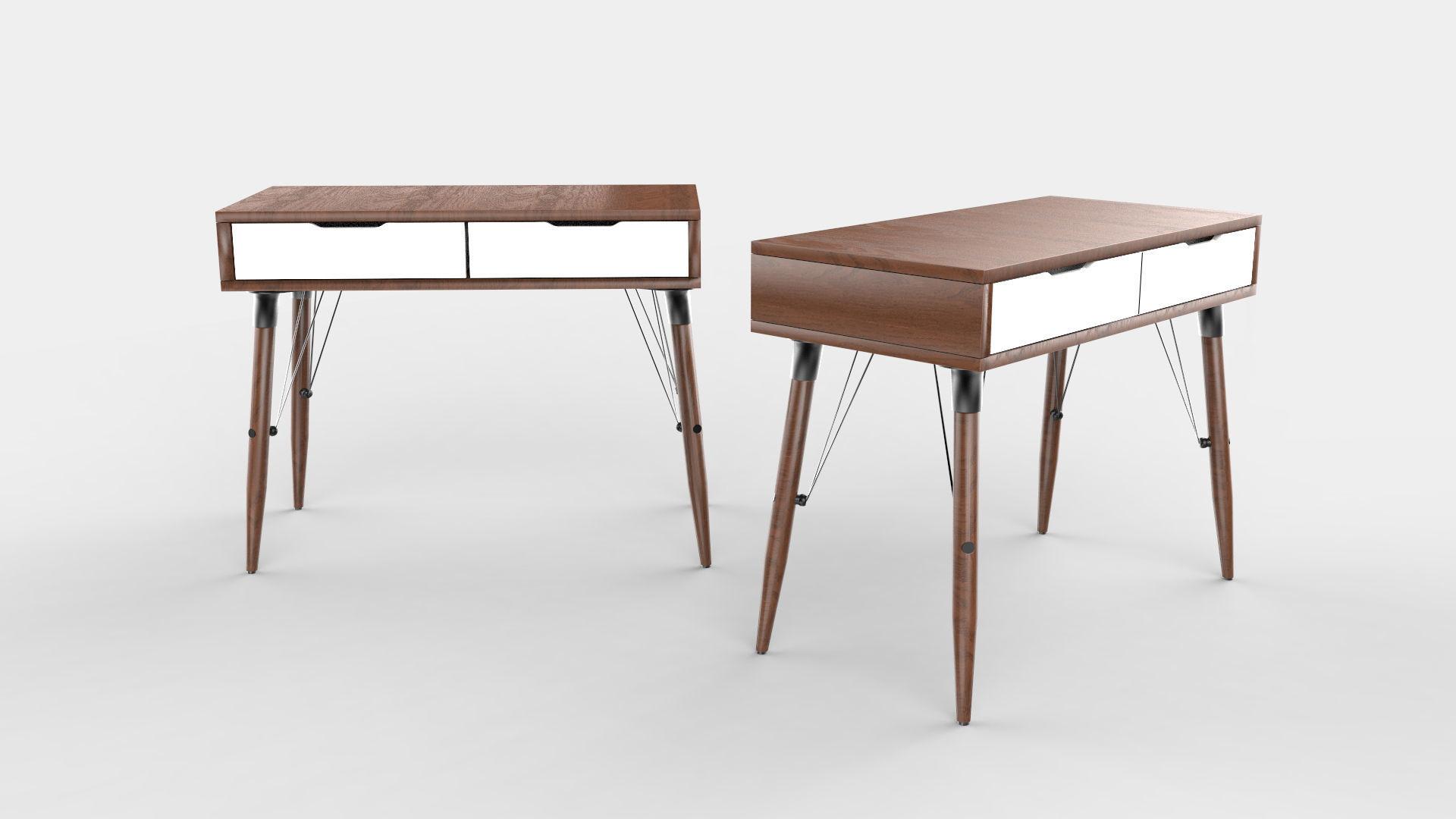 Mid century modern desk 3d model