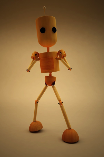 blake - cartoon character 3d model low-poly rigged obj mtl fbx c4d ma mb 1
