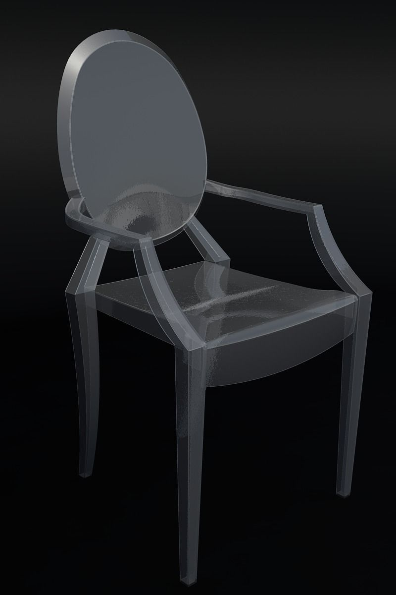 ... Ghost Chair By Philippe Starck 3d Model Dxf Dwg 3 ...