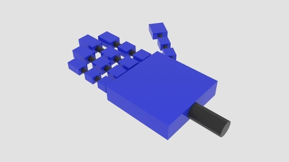 3D asset Free Square Robot Arm   CGTrader