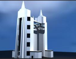 3D model Sci Fi building