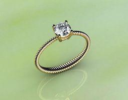 platinum Filigree Ring 3D print model