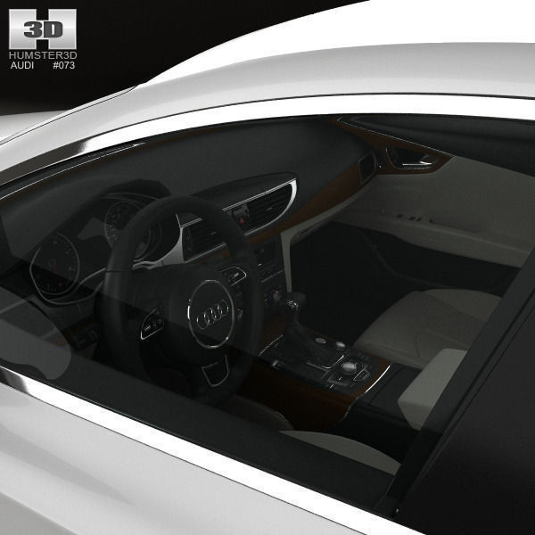audi a7 sportback with hq interior 2011 3d model max obj 3ds fbx c4d lwo lw lws. Black Bedroom Furniture Sets. Home Design Ideas