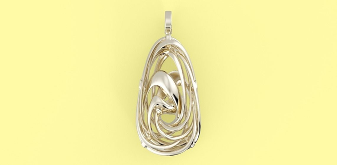 wavy necklace 3d model max obj 3ds fbx ma mb stl 1
