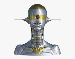 Female Robot Head A 3D model