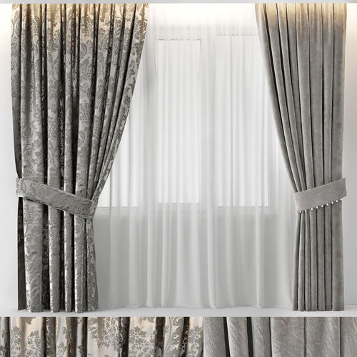 curtains glam 3d model max obj mtl fbx 1