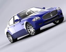 Maserati Quattroporte 2006 3D Model
