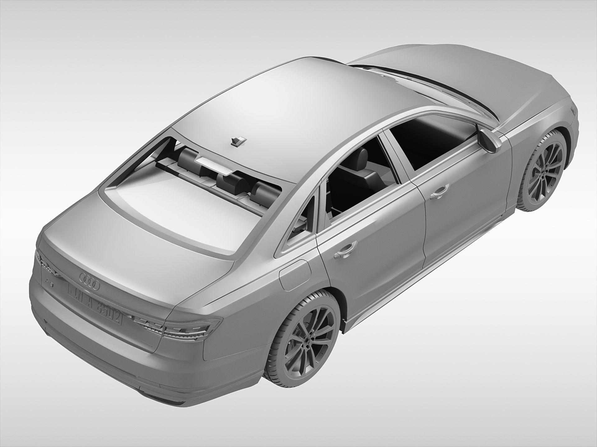 ... Audi A8 2018 3d Model Max Obj 3ds Fbx C4d Ma Mb 9 ...