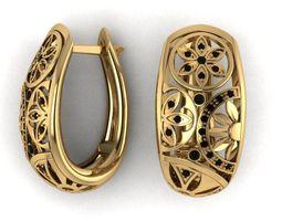 3D printable model withstones Earrings