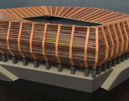 3D model Stadium Wood Exterior