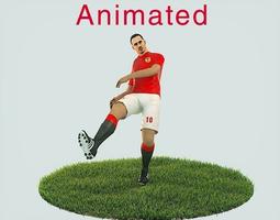 3D asset Zlatan Ibrahimovic Game Ready Football Player 2