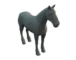 3D model Low Poly Base Mesh Horse