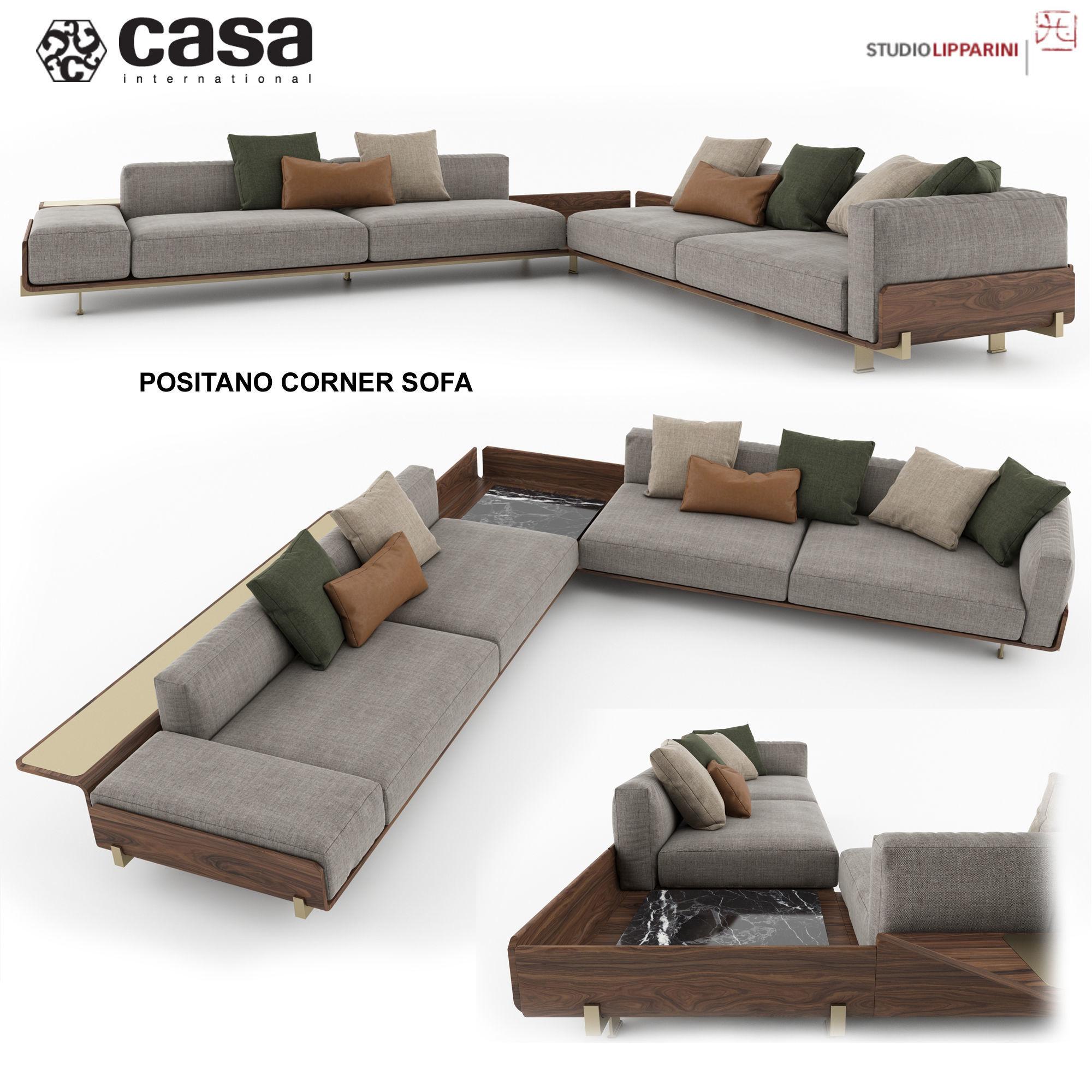 Casa Intl Positano Corner Sofa 3d Model Max Obj 1 ...