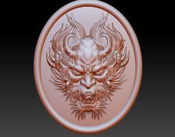 dragon head pendant 3D printable model