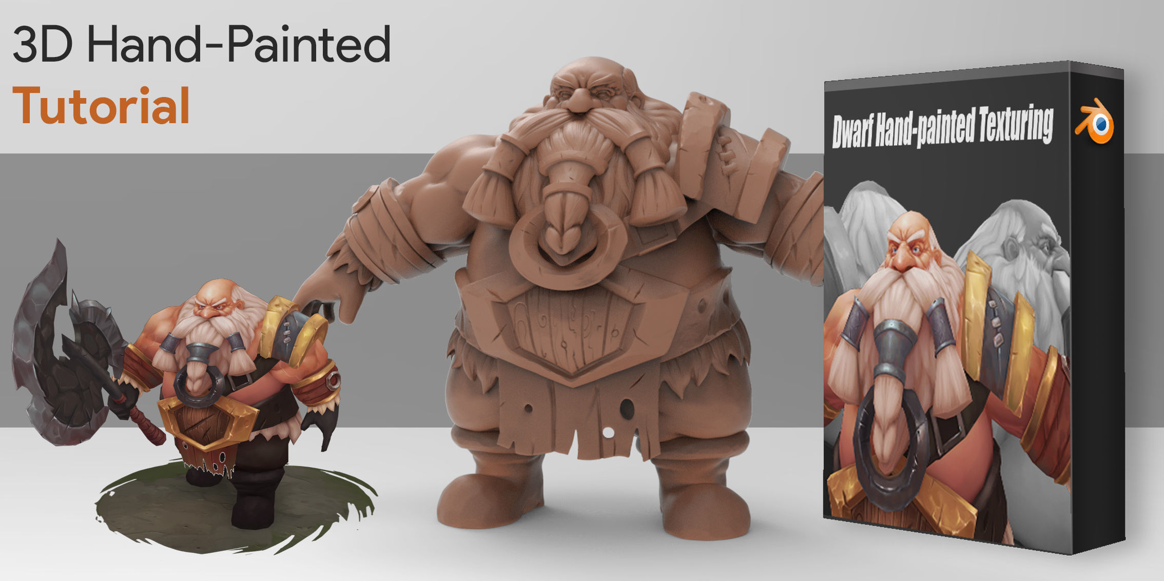 3D Hand-Paint Character Dwarf for games