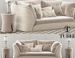 Turri vogue sofa set 3D model