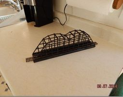 3d print model ho train bridge with upper supports 15 inch