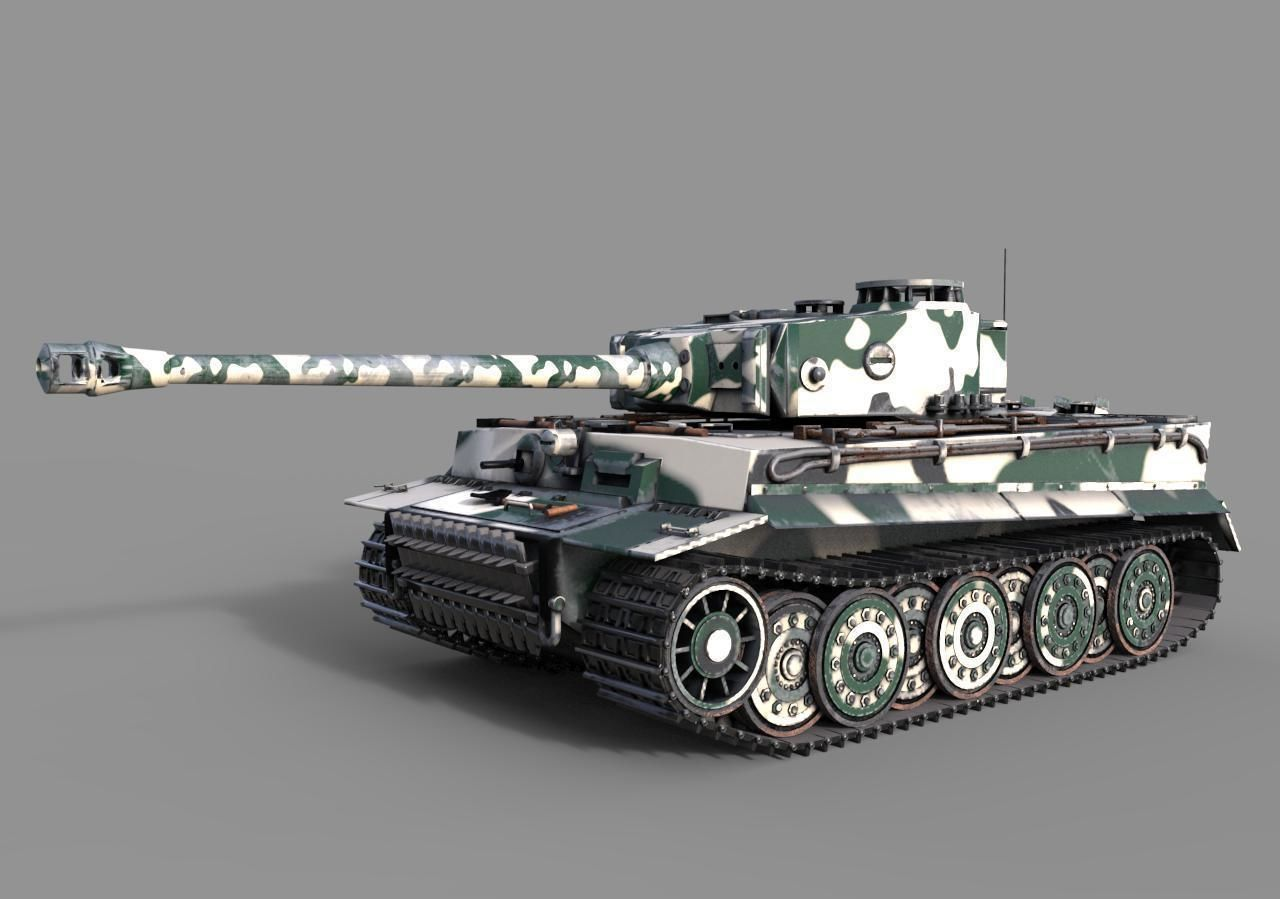 Tiger 1 Tank ww2 German Army | 3D model