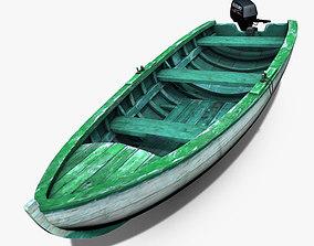 3D model fishing Motorboat