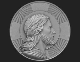 3D printable model Medallion of Jesus no 2