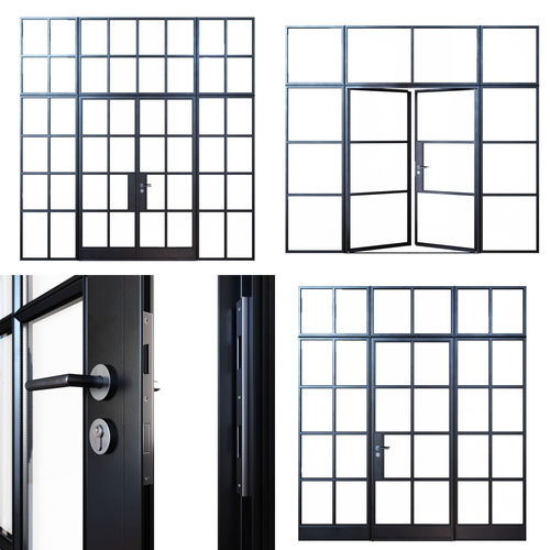 3d Steel Doors Cgtrader