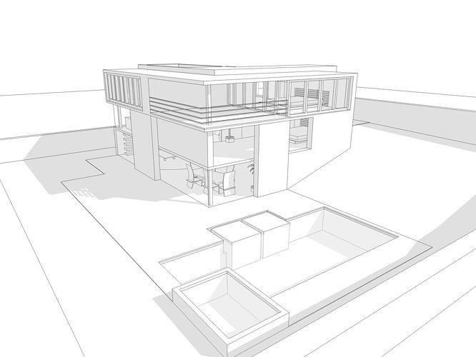 Modern House 3d Model 3ds Dae Dwg Skp 1 ...