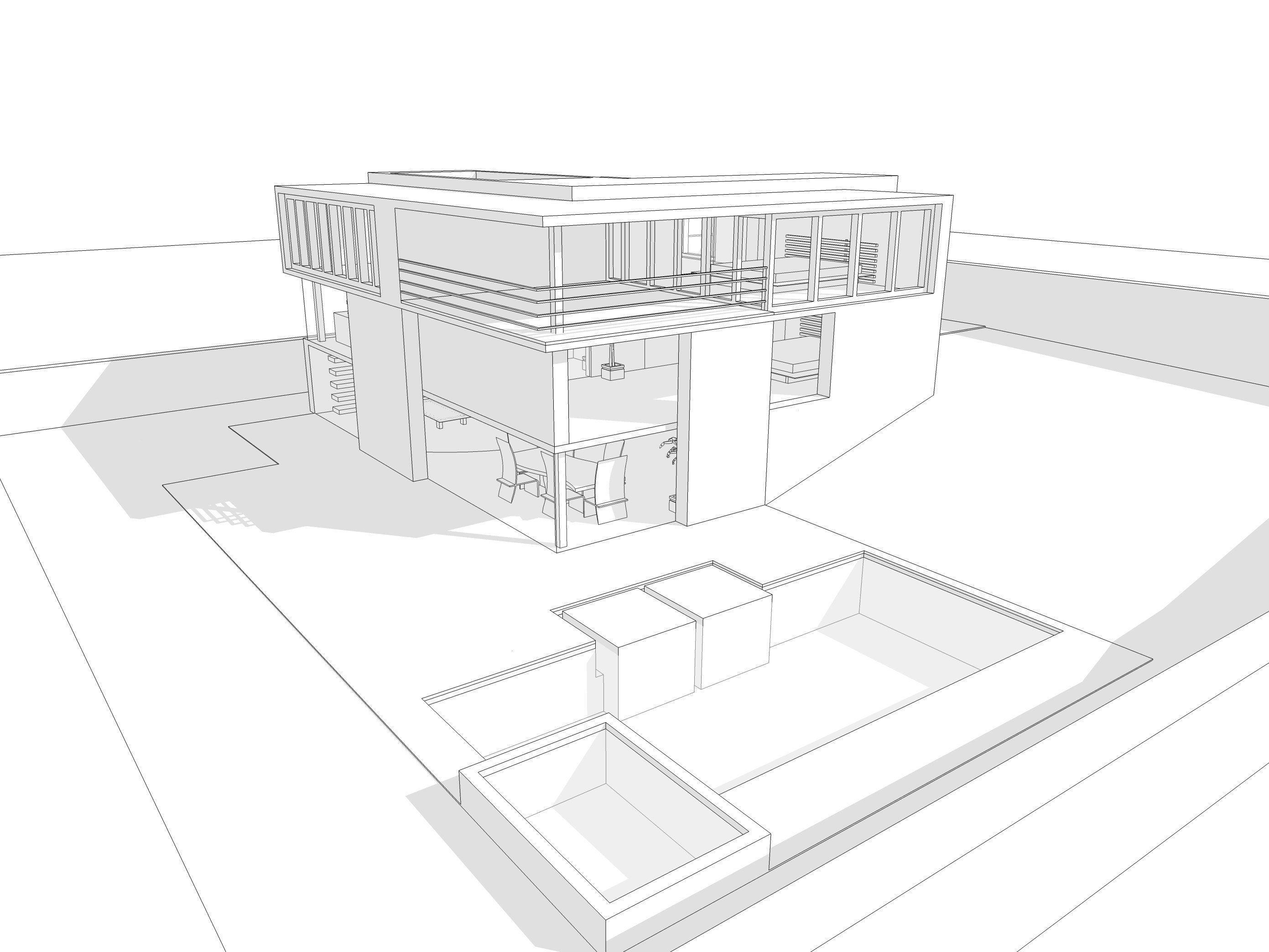 3d Model Modern House White Cgtrader