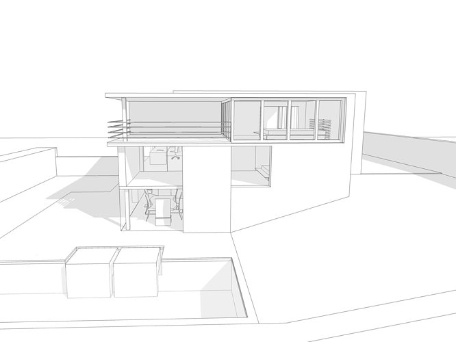 ... Modern House 3d Model 3ds Dae Dwg Skp 3 ...