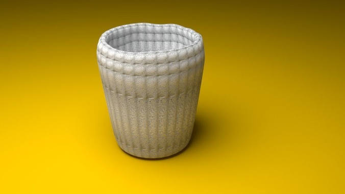 cup with white stone texture 3d model obj mtl 1