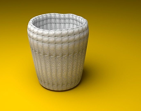 3D print model Cup with White Stone Texture