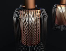 3D model Designer Perforated Ceiling Light