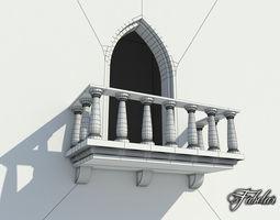 3D asset Balcony FREE