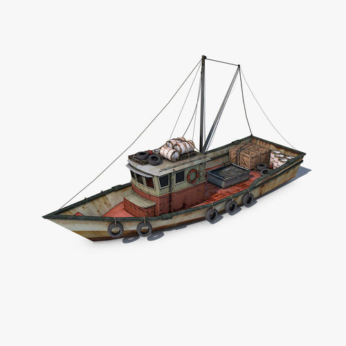 fishing vessel 3d model max obj 3ds fbx c4d dae 1